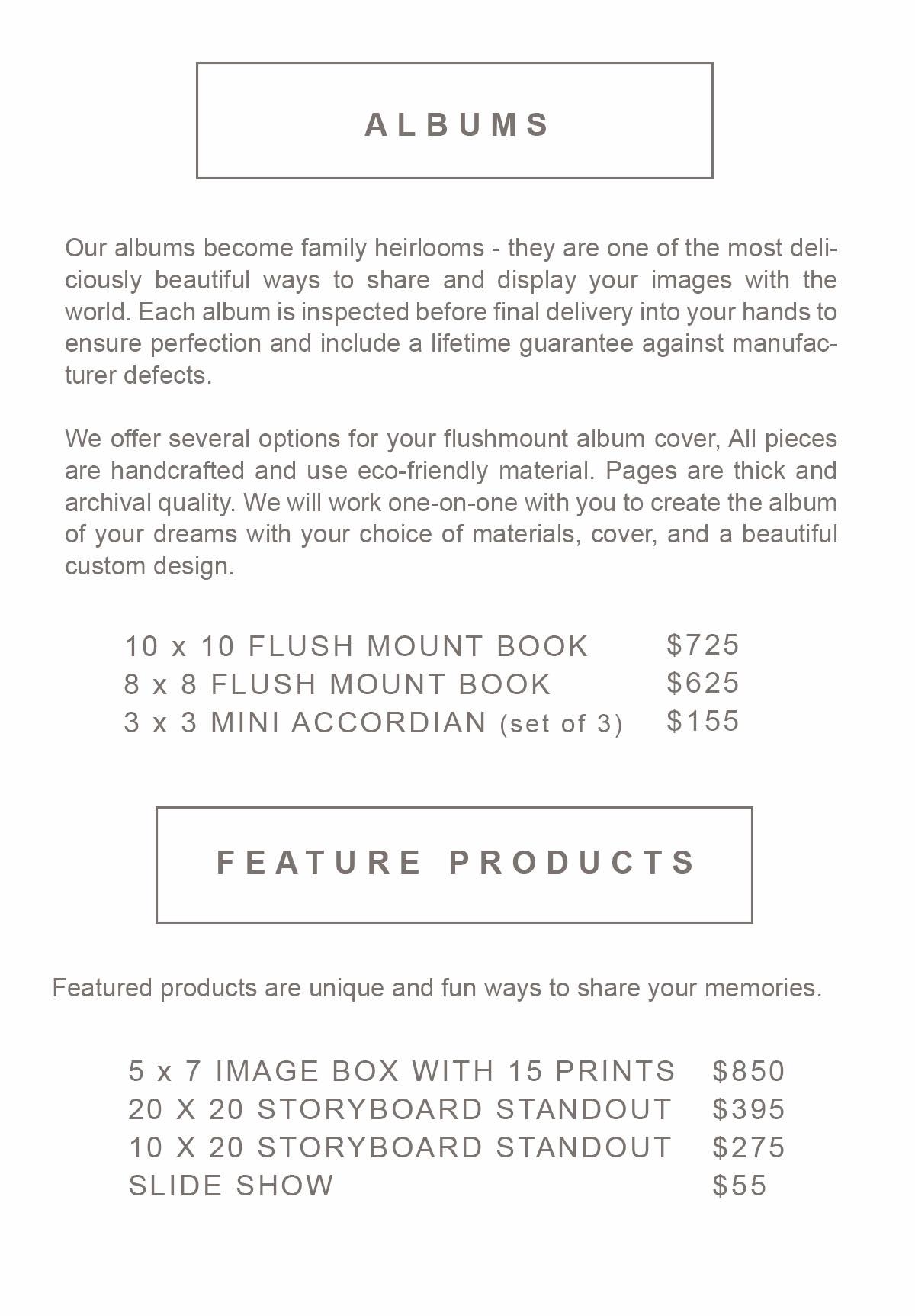 Pricing for senior photos