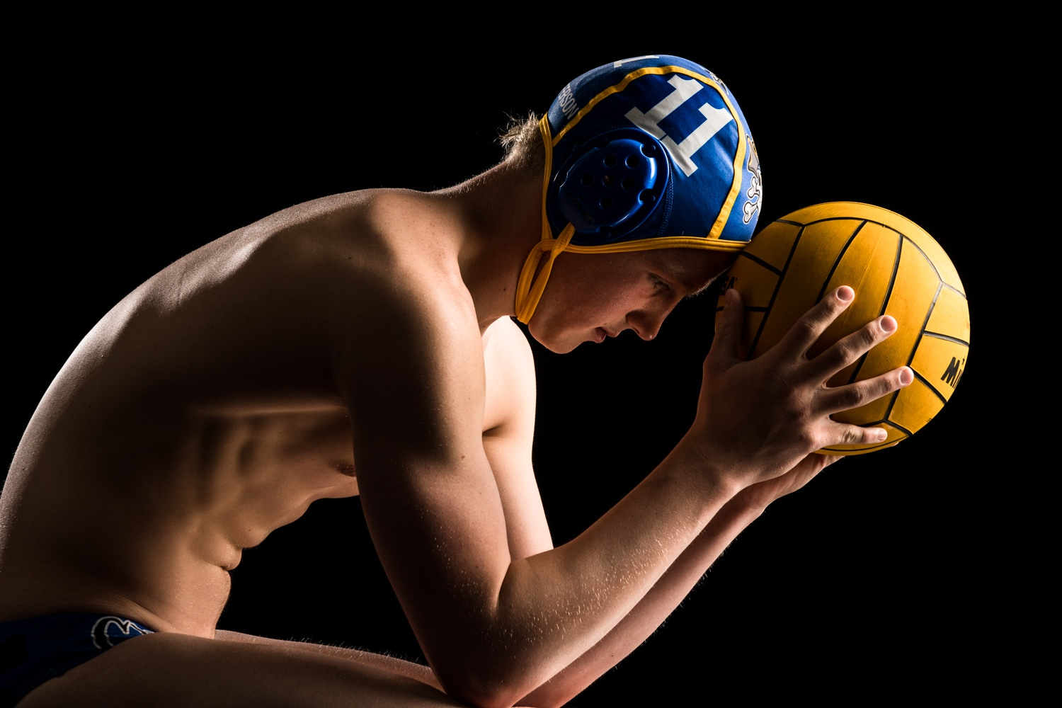 Sports photo of senior boy