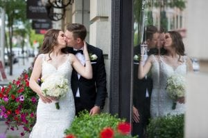 Always kiss me bride and groom photo