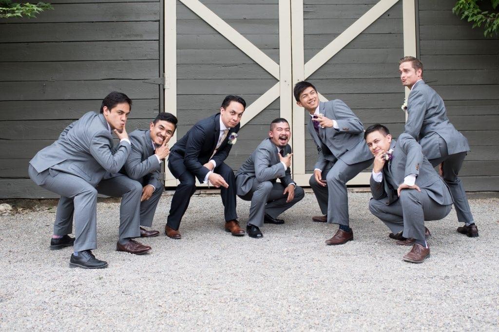 Fun wedding party photos in Spokane WA