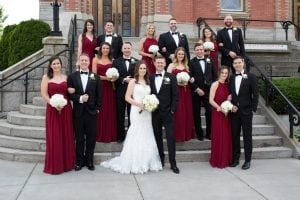 wedding party portrait formal
