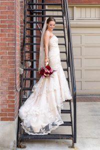 Portrait of bride on her wedding day
