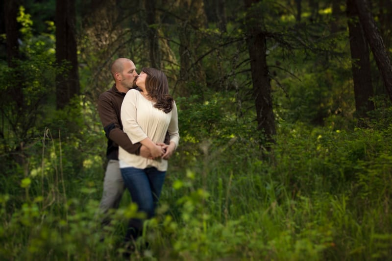 Engagement Photos in woods Franklin Photography Studio