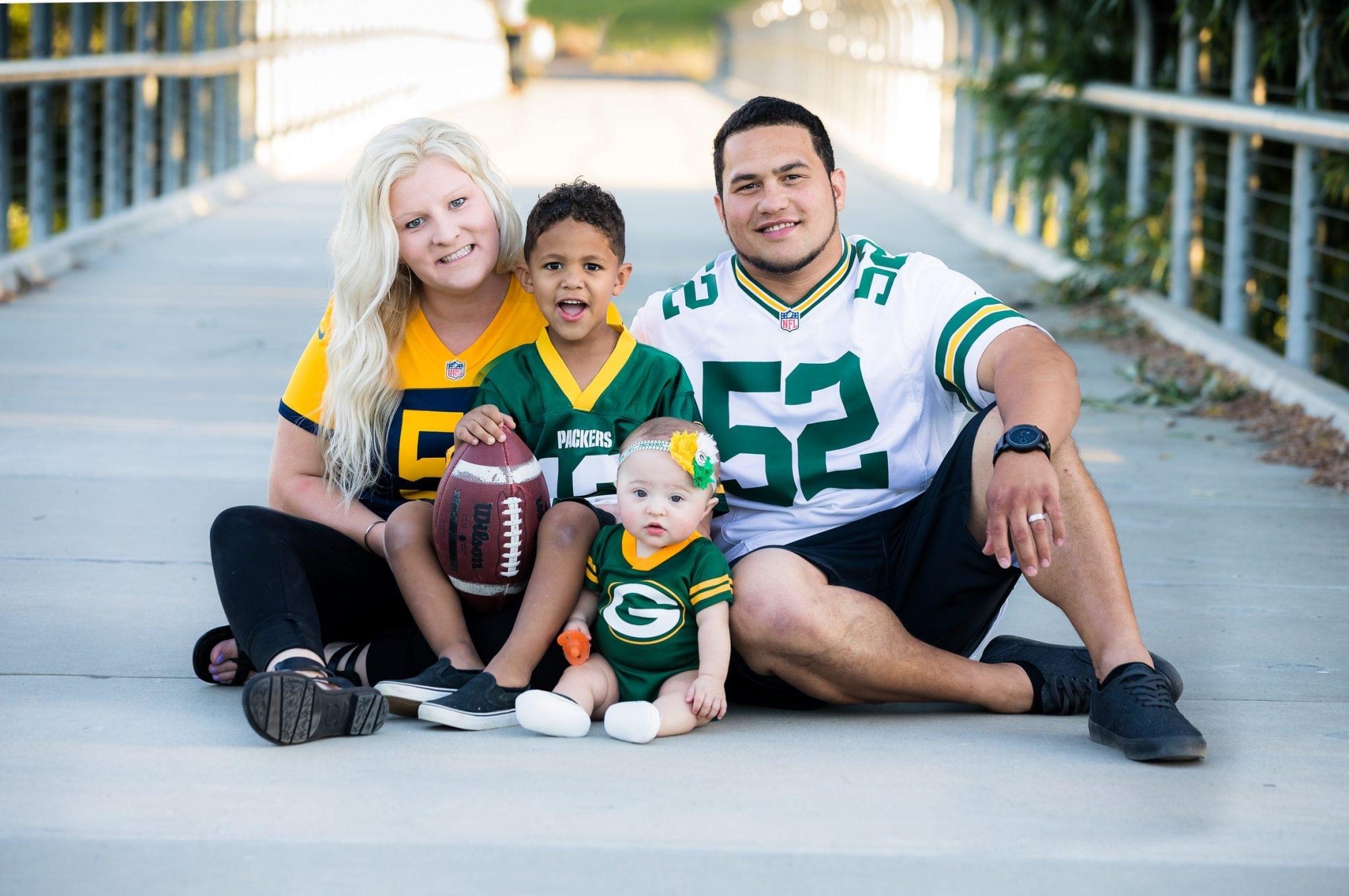 Sports family photo