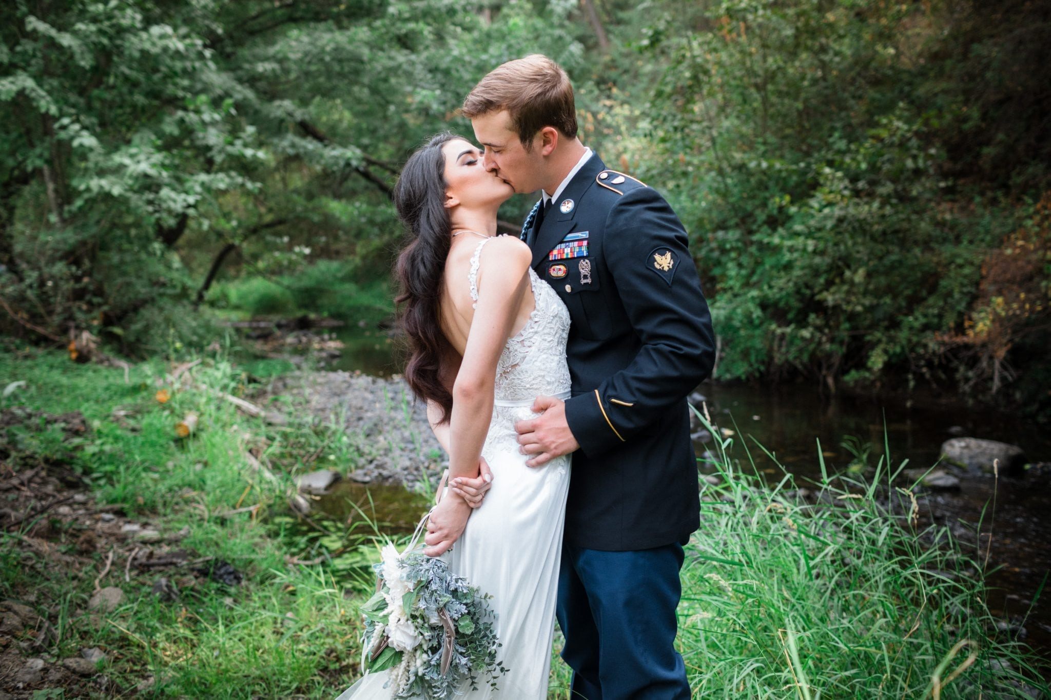 Military wedding photo taken by Franklin Photography