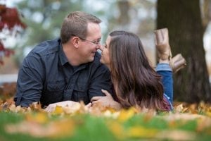 Fall engagement photos in Spokane WA