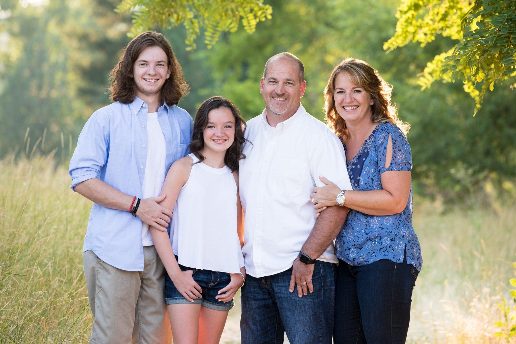 Fall family photo in Spokane, Franklin Photography
