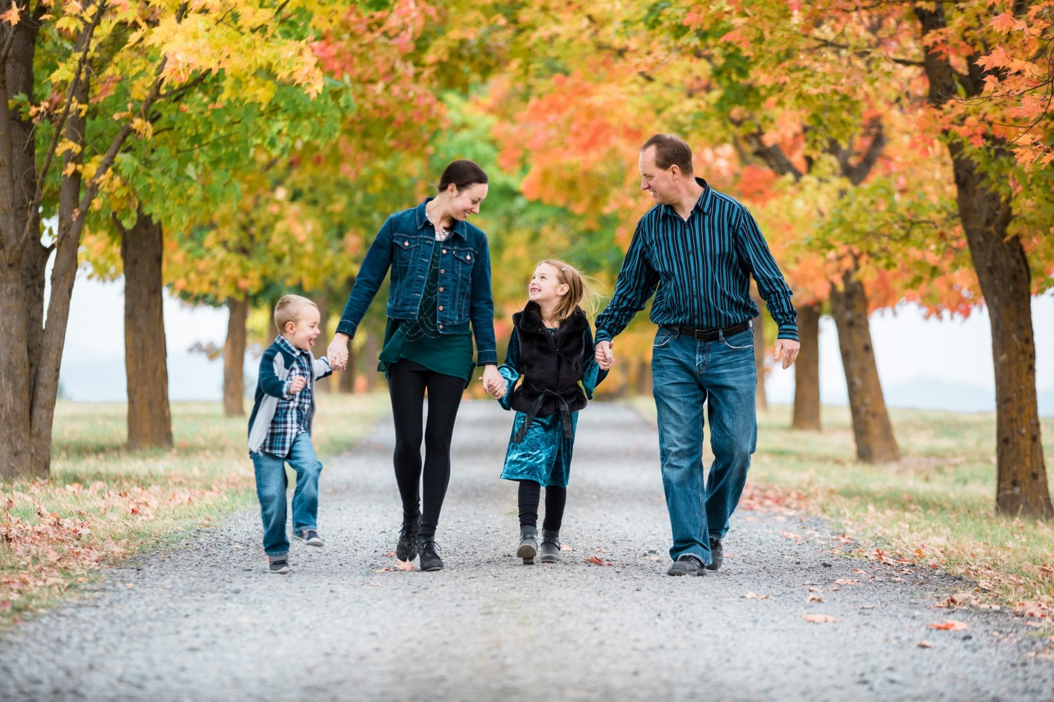 Fall family photo in Spokane WA taken by Franklin Photography