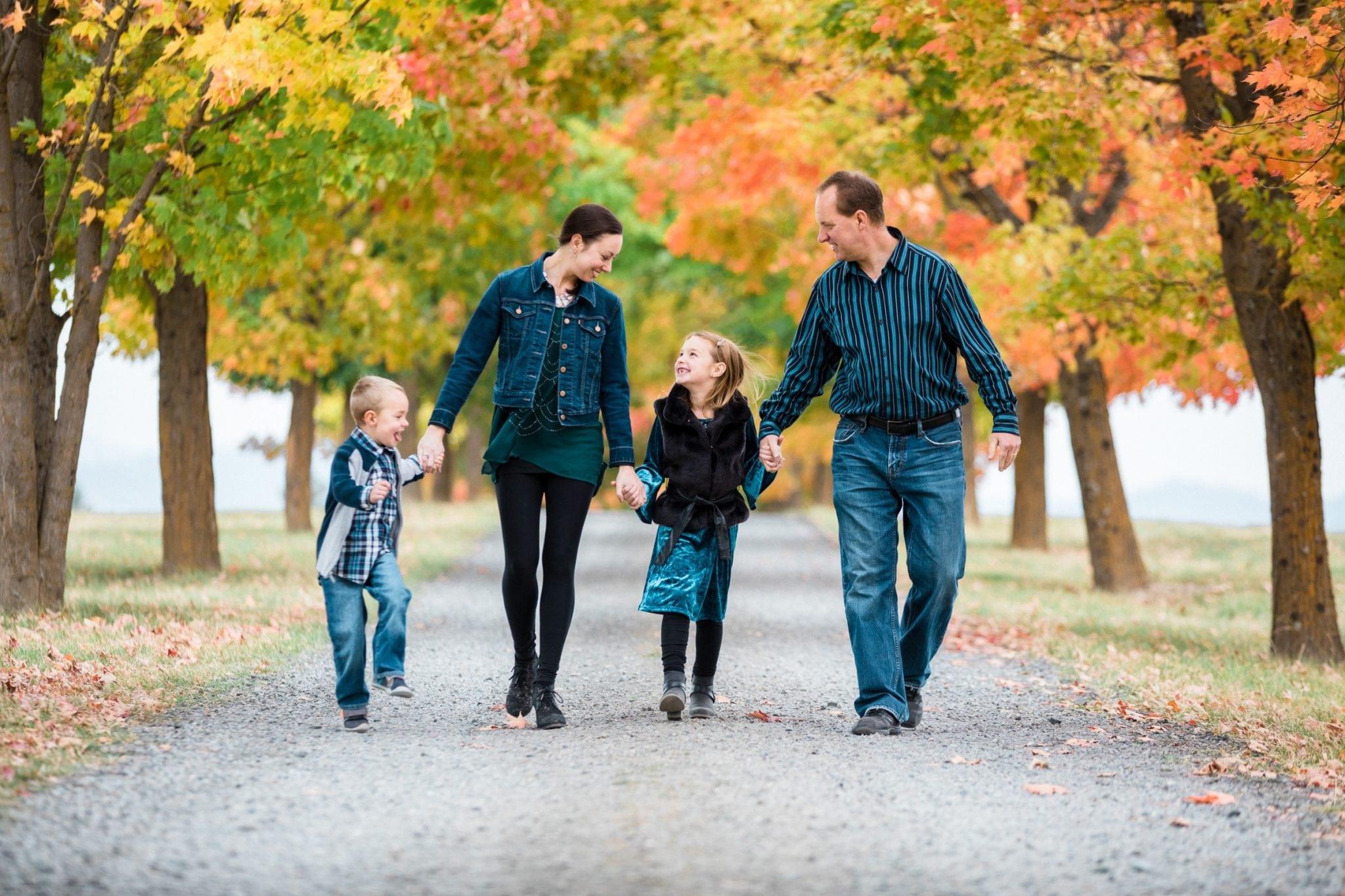 Fall family photo in Spokane WA taken by Franklin Photography