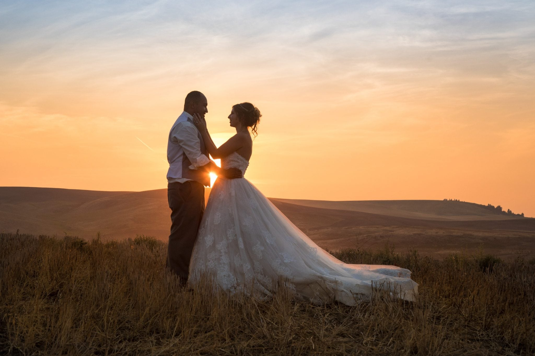 Country wedding photo in Spokane WA