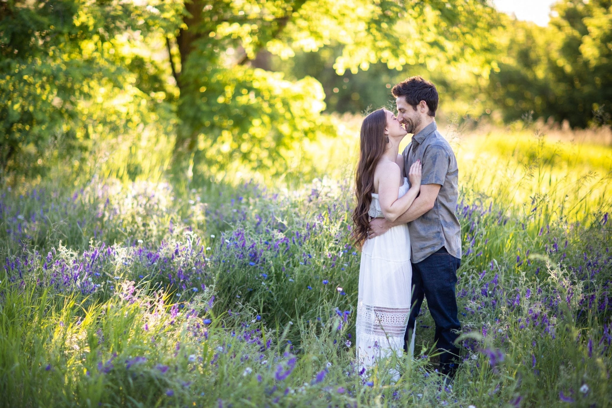 Romantic engagment session in country