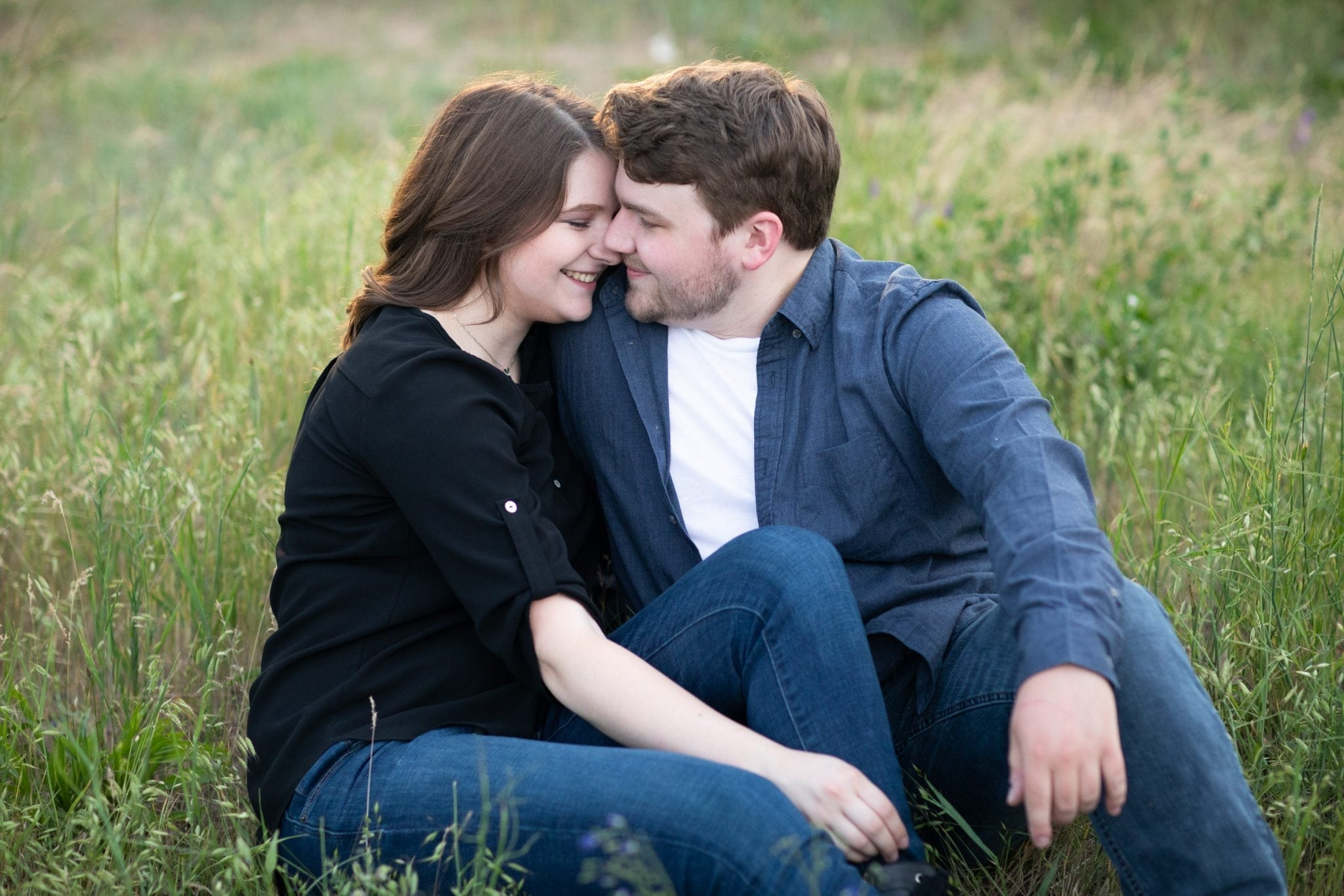 Cute engagement photo shoot in Spokane WA Franklin Photogrphy