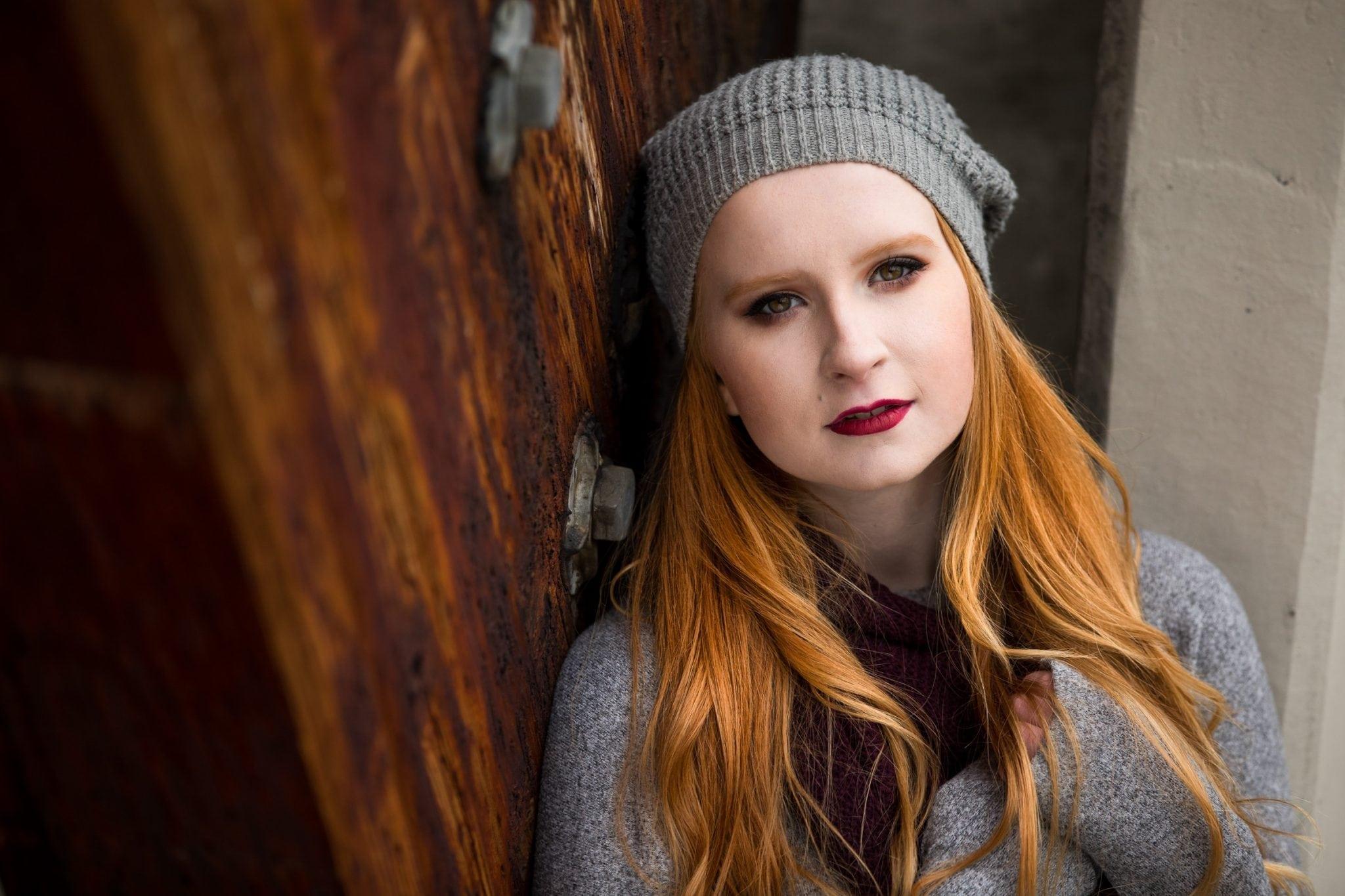 Senior photo of high school girl