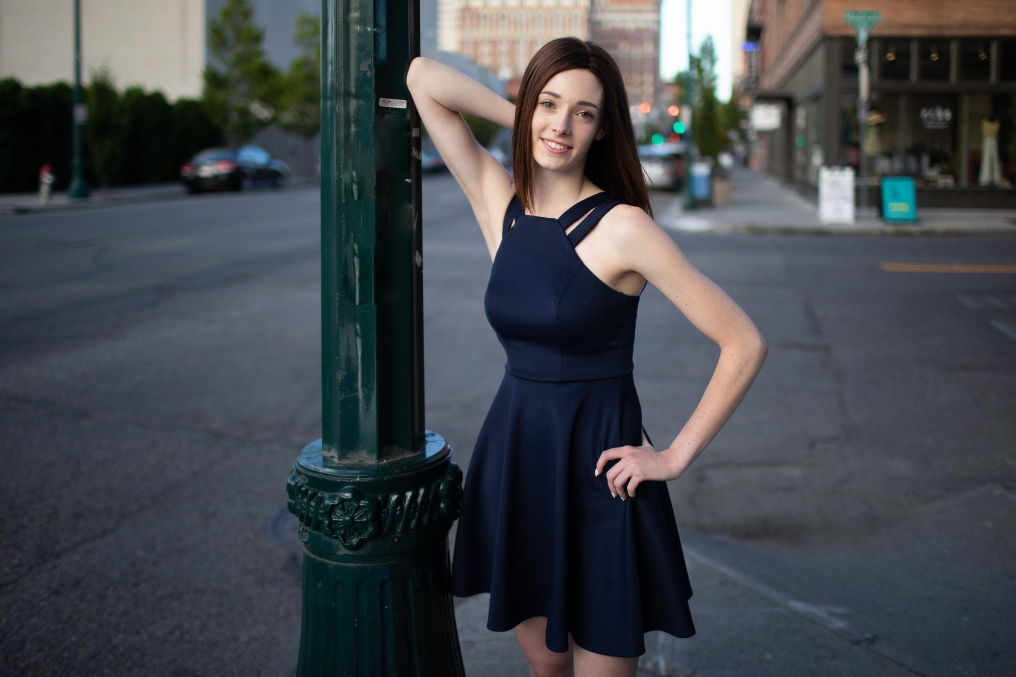 downtown Spokane senior photos