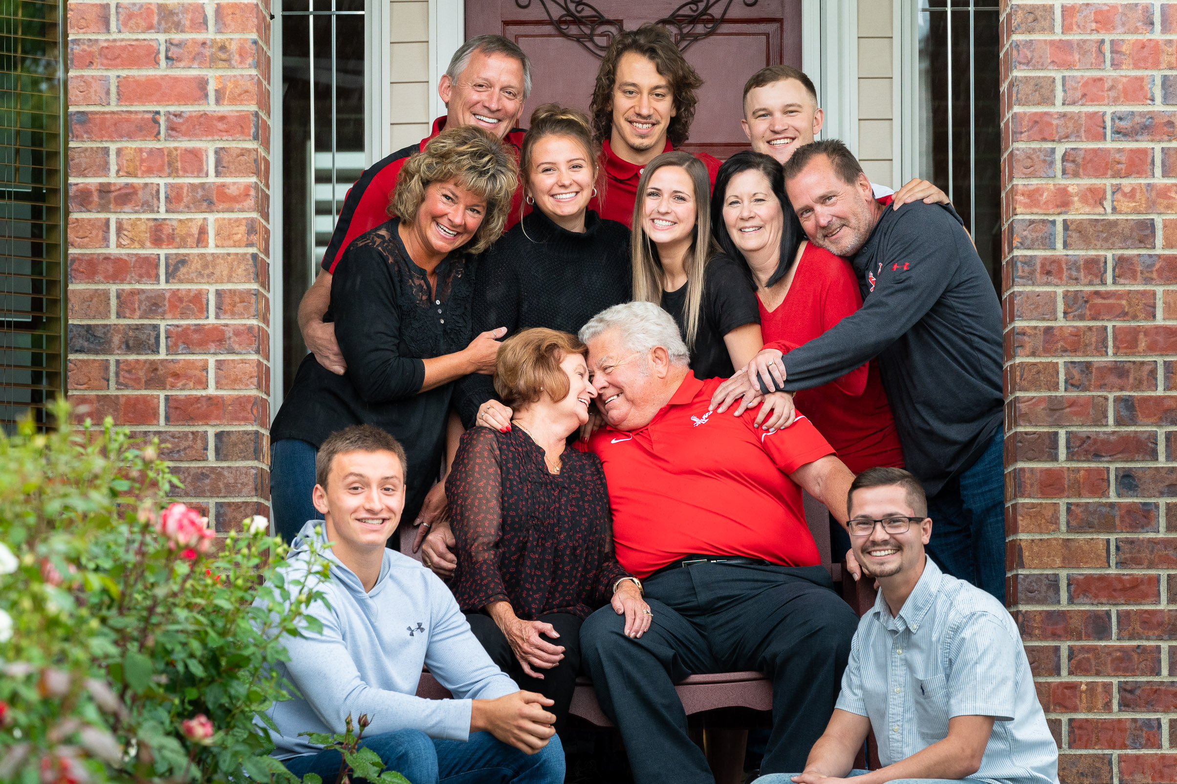 Photo showing professional family photo session with Franklin Photography Studio