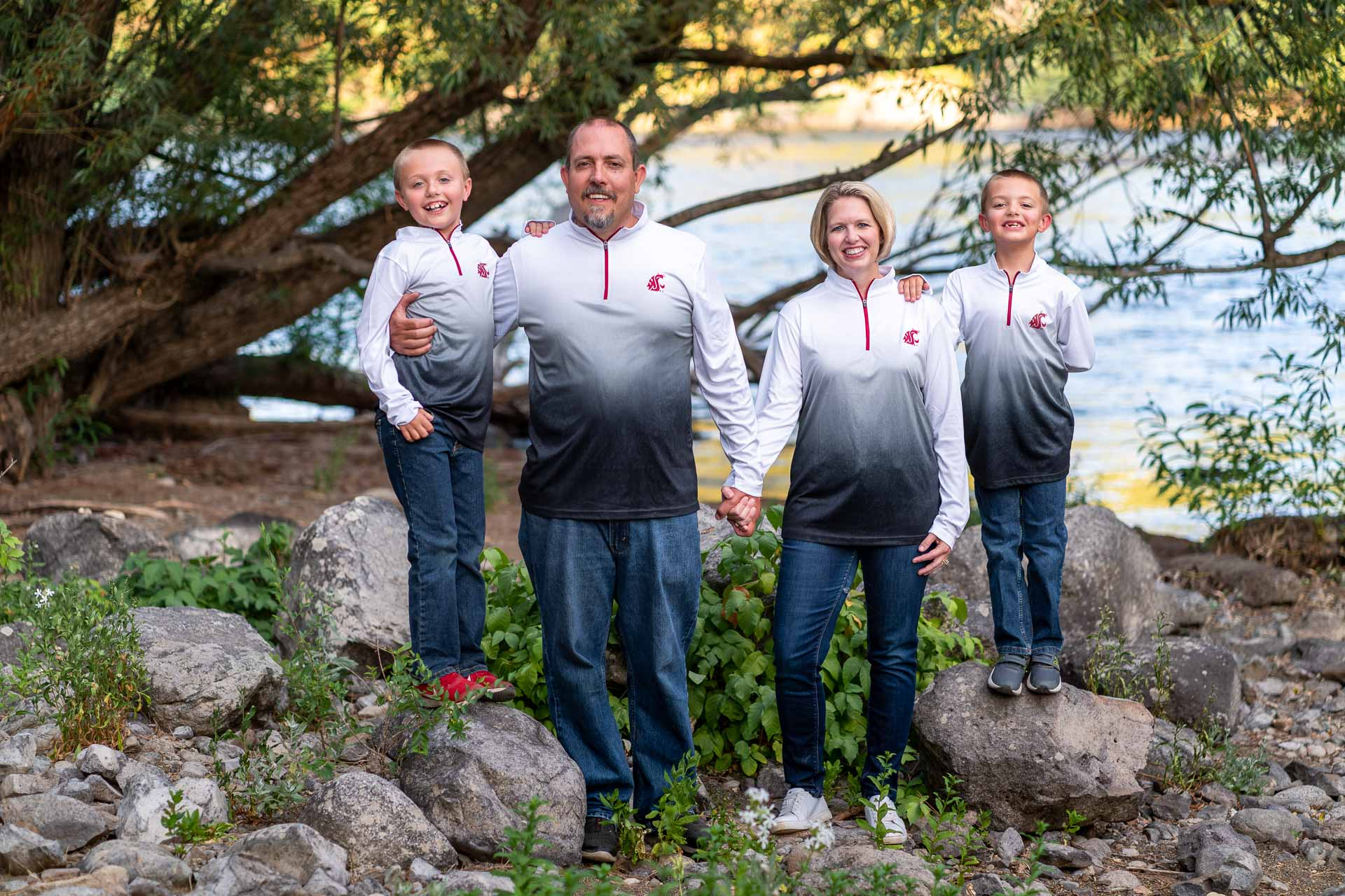 outdoor family photo session in Spokane WA Franklin Photography Studio